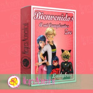 Kit Imprimible Candy Bar Prodigiosa Ladybug & Chat Noir