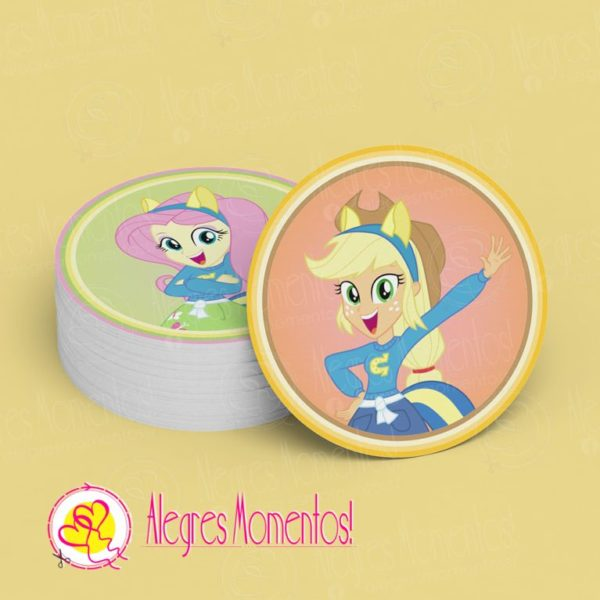 Stickers para golosinas My little Pony Equestria Girls