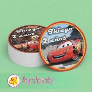 Stickers para golosinas Cars
