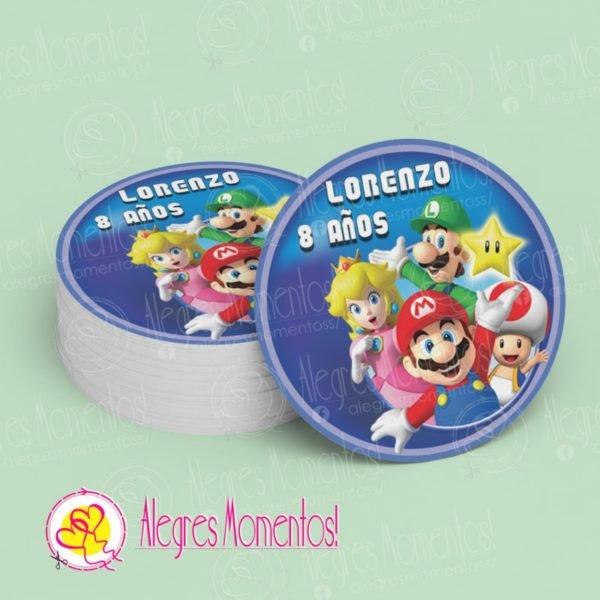 Stickers para golosinas Super Mario Bross