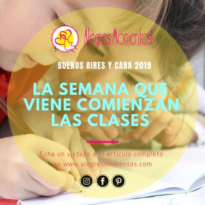 La semana que viene comienzan las Clases en Buenos Aires y CABA